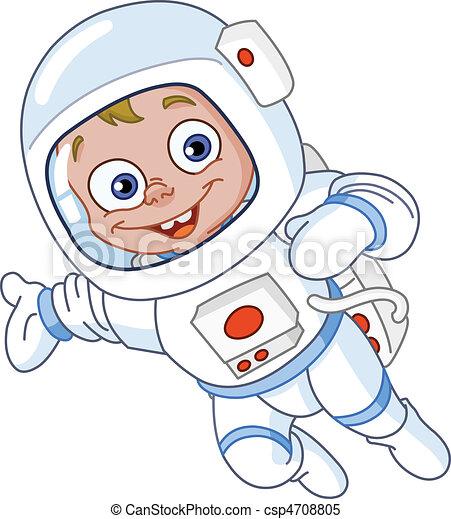 astronauta, giovane - csp4708805