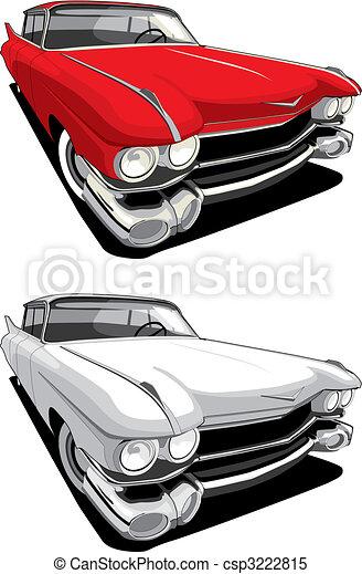 automobile, americano, retro - csp3222815