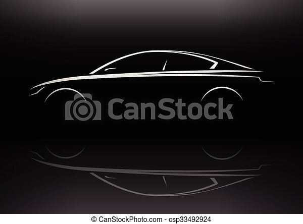 automobile, bar, esecutivo, silhouette - csp33492924