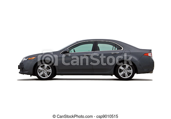 automobile, bianco, isolato - csp9010515