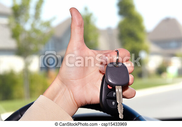 automobile, keys. - csp15433969
