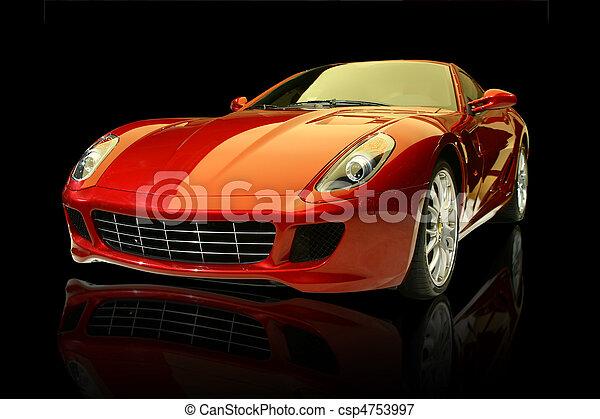 automobile, lusso, rosso, sport - csp4753997