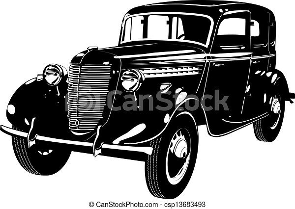 automobile, retro - csp13683493