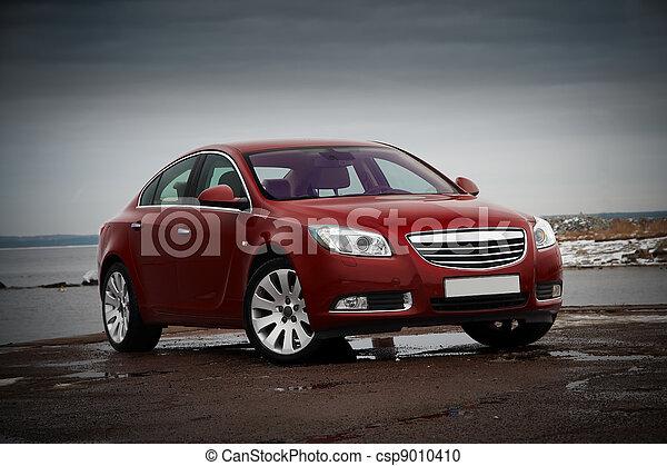 automobile, rosso, affari - csp9010410
