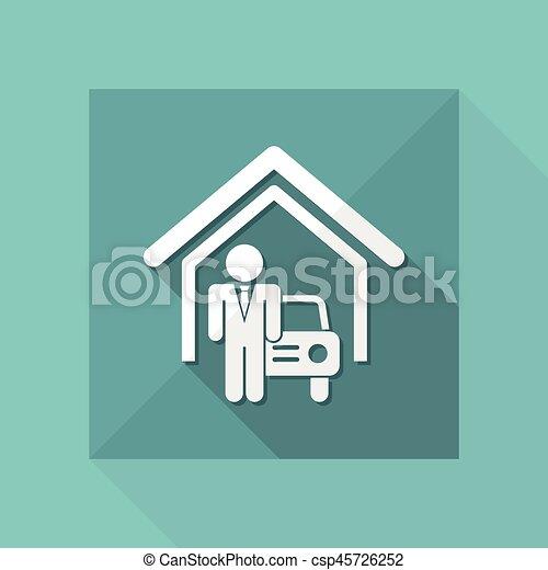 automobilistico, sala esposizione - csp45726252