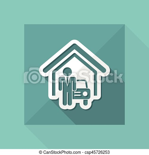 automobilistico, sala esposizione - csp45726253