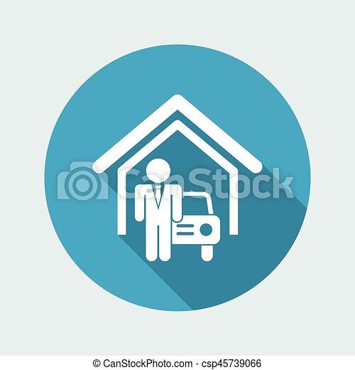 automobilistico, sala esposizione - csp45739066