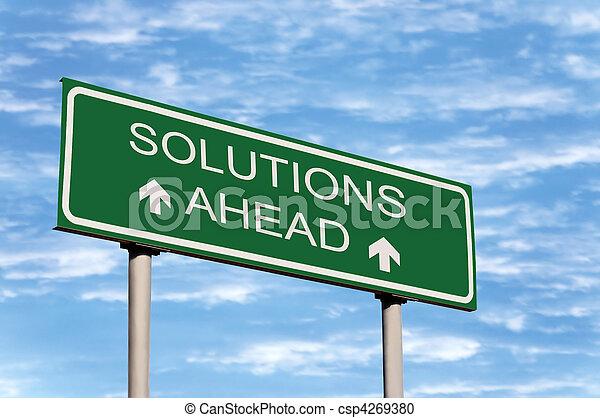 avanti, soluzioni, segno strada - csp4269380