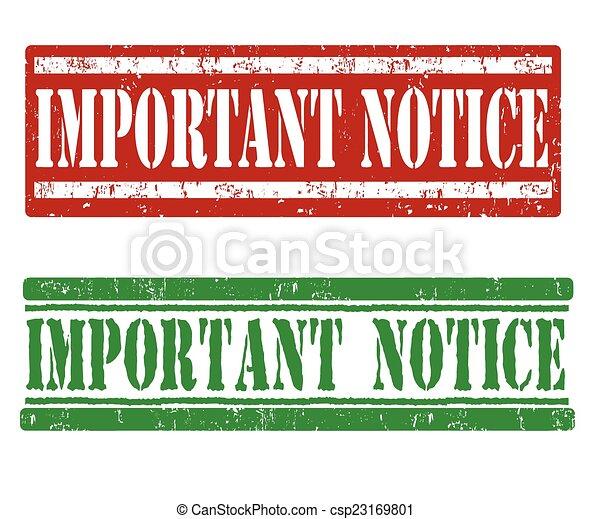 avviso, importante, francobolli - csp23169801