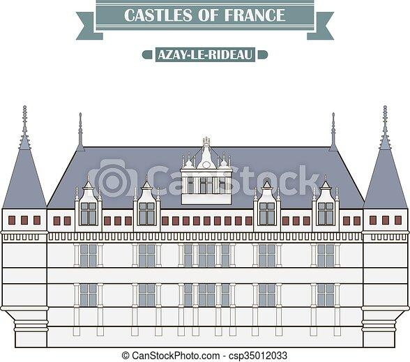azay-le-rideau, francia - csp35012033