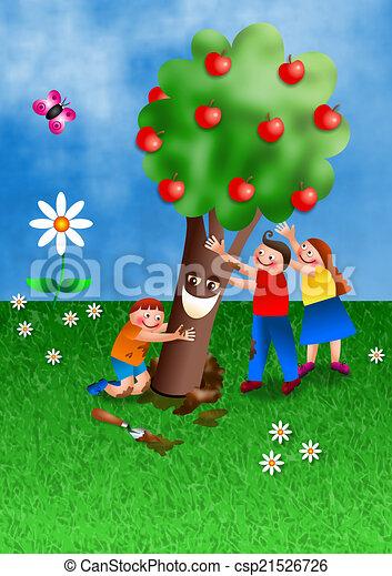 b, ebreo, tu, shvat, vacanza, cartone animato - csp21526726