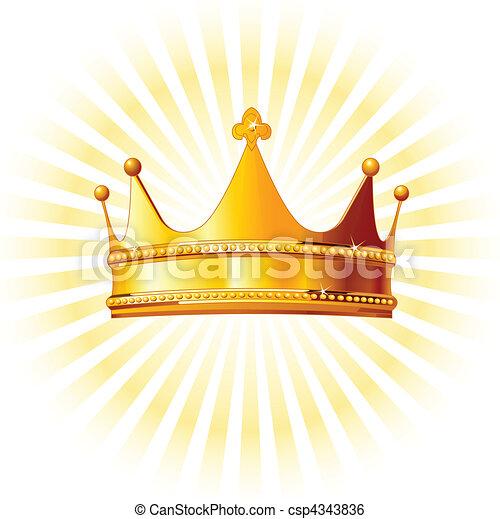 backgroun, corona dorata, ardendo - csp4343836