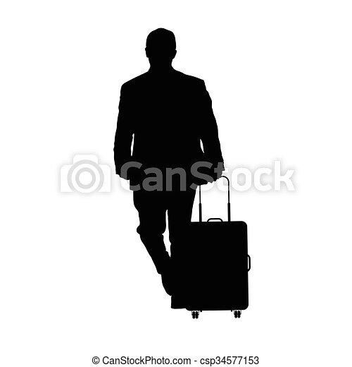 bagaglio, viaggiare, illustrazione, uomo - csp34577153