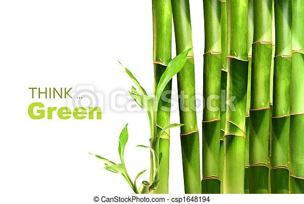 bambù, accatastato, tiri, lato - csp1648194