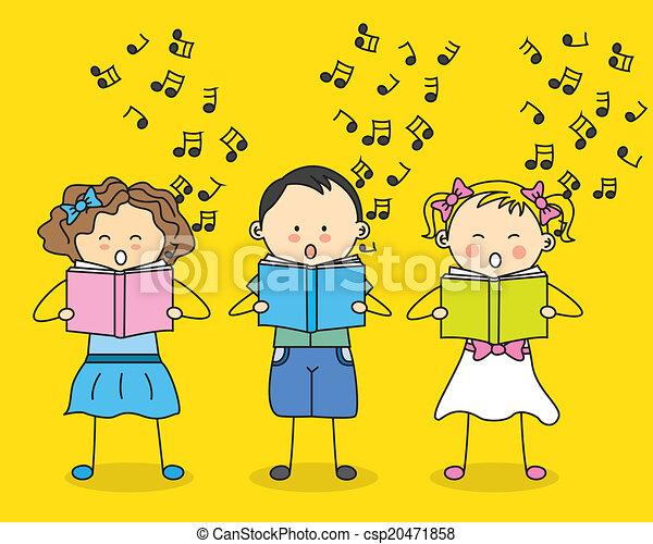bambini, canto - csp20471858