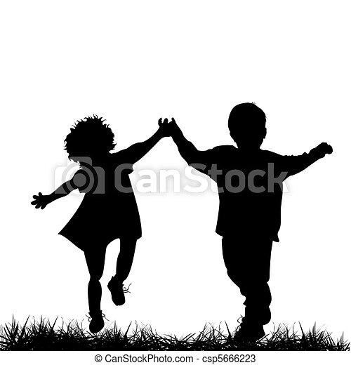 bambini correndo - csp5666223