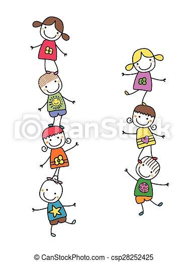 bambini, felice - csp28252425