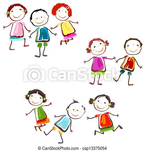 bambini, felice - csp13375054