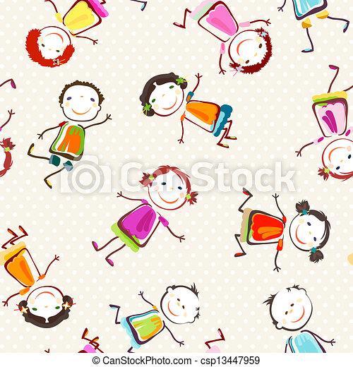 bambini, felice - csp13447959