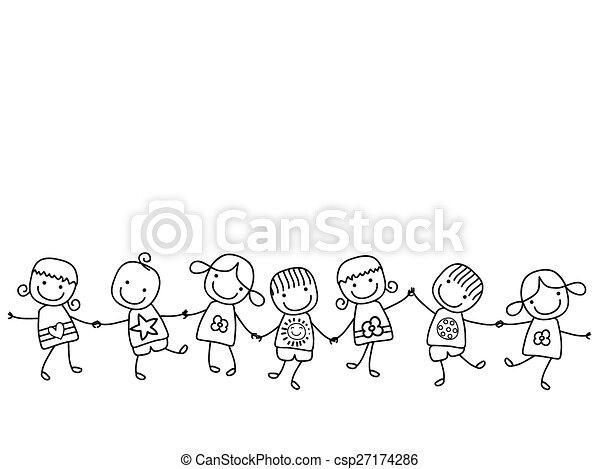 bambini, felice - csp27174286