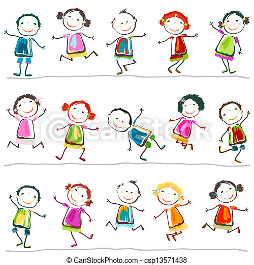 bambini, felice - csp13571438