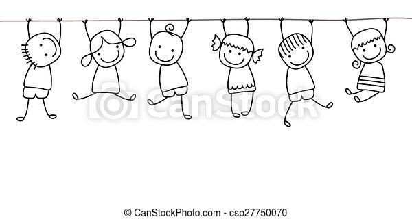 bambini, gioco, felice - csp27750070
