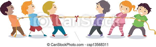 bambini, gioco, tirare, guerra - csp13568311