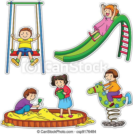 bambini, gioco - csp9176484