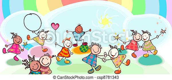 bambini, gioco - csp8781343