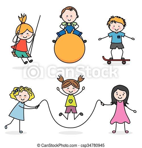bambini, gruppo, gioco - csp34780945