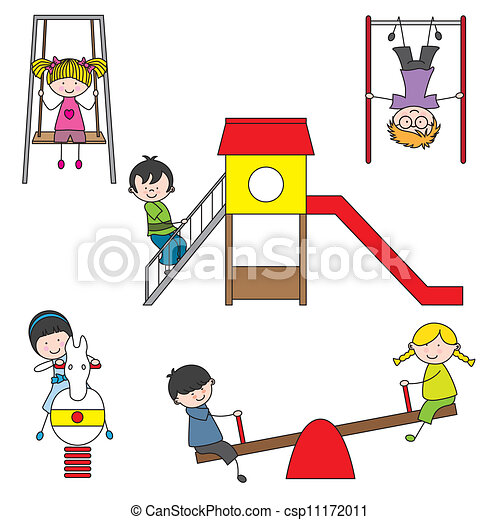 bambini, parco, gioco - csp11172011