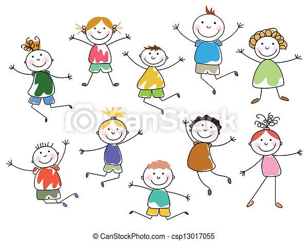 bambini, vettore - csp13017055