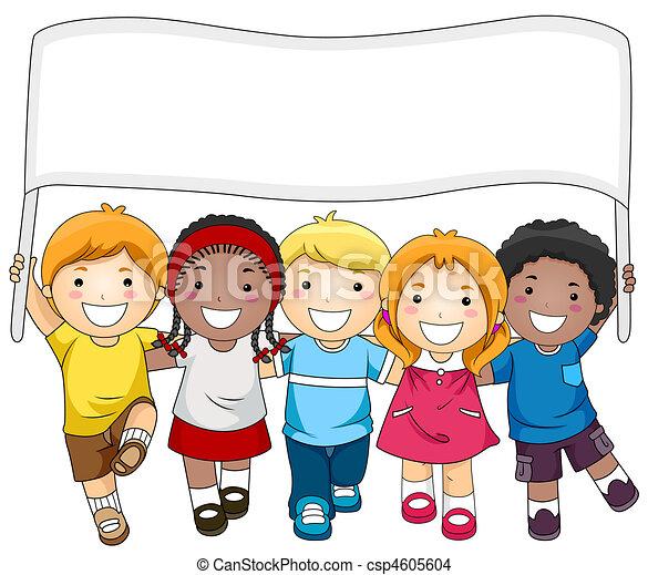 bandiera, bambini - csp4605604