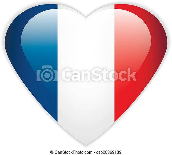 bandiera, button., francia - csp20369139