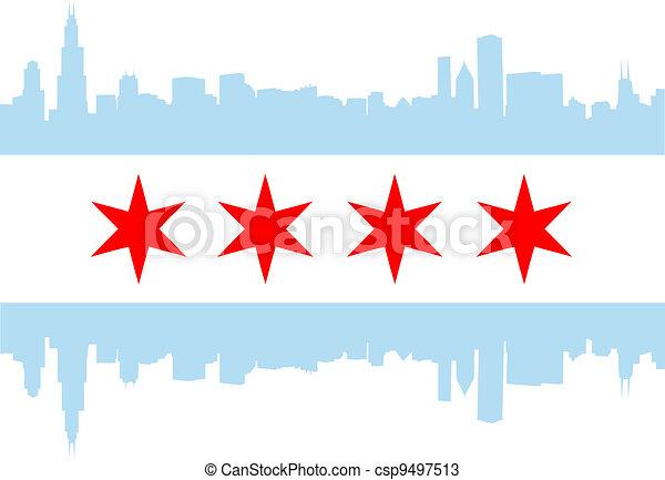 bandiera, chicago - csp9497513