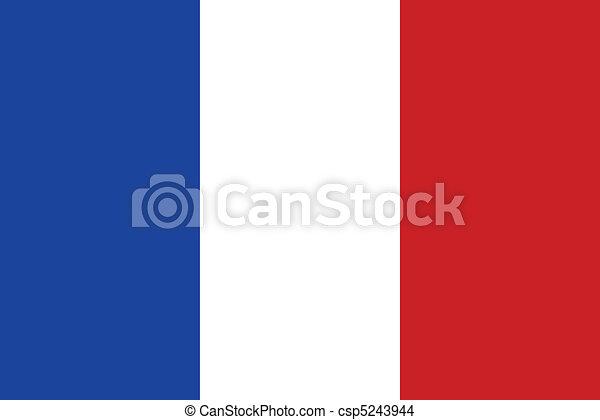bandiera, francia - csp5243944