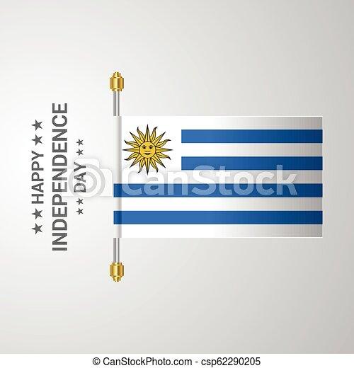 bandiera uruguay, fondo, appendere, giorno, indipendenza - csp62290205