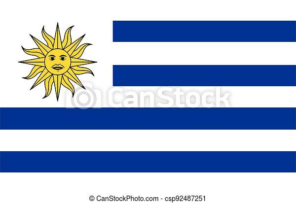 bandiera uruguay, vettore - csp92487251