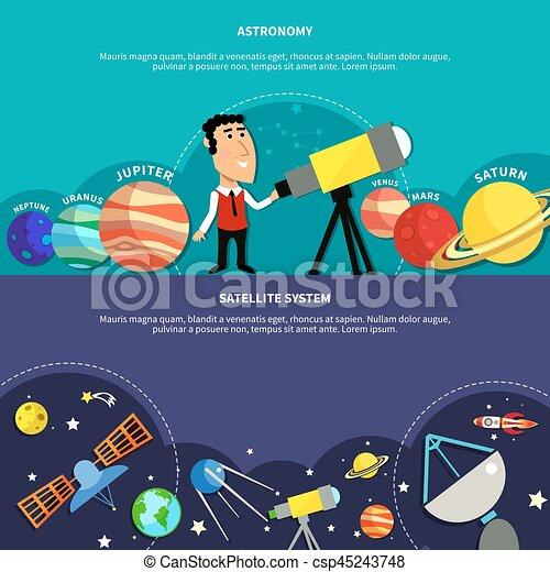 bandiere, astronomia, set - csp45243748