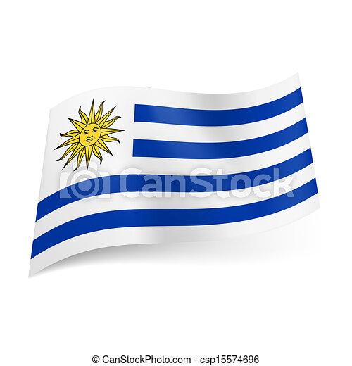 bandierina condizione, uruguay. - csp15574696