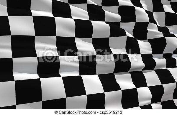 bandierina ondeggiamento, checkered - csp3519213