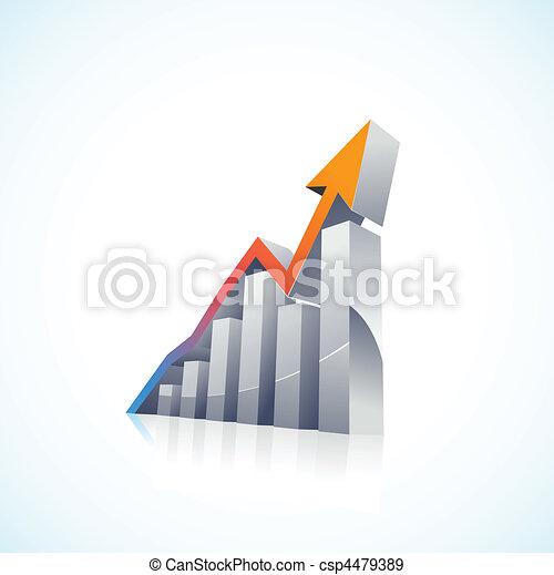 barre, vettore, 3d, mercato, casato - csp4479389