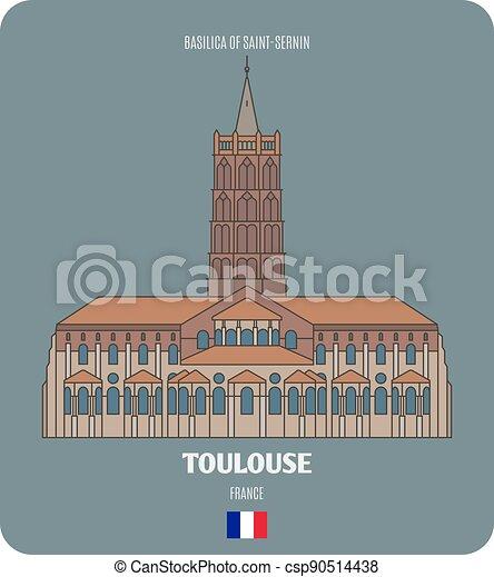 basilica, toulouse, francia, saint-sernin - csp90514438