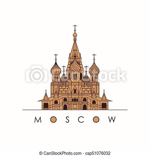 basilico, cattedrale, mosca, santo - csp51076032