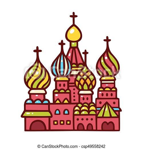basilico, russia, cathedral., mosca, santo - csp49558242