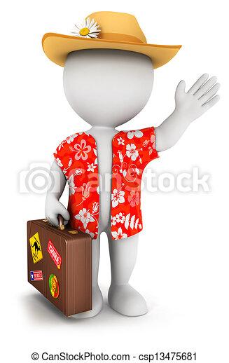 bianco, 3d, vacanza, va, persone - csp13475681