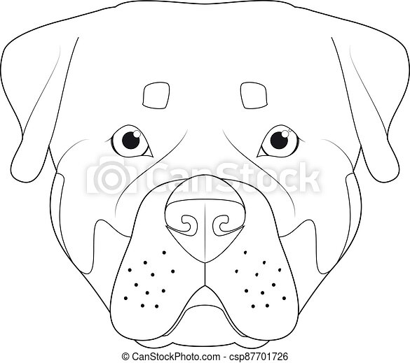 bianco vettore rottweiler facile cartone animato cane