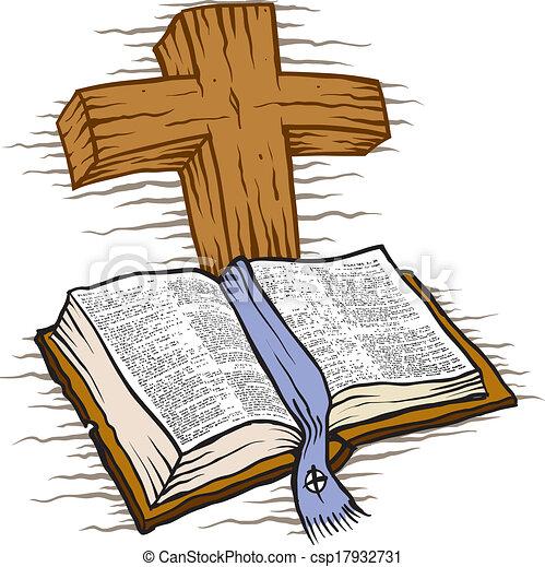 bibbia, croce - csp17932731