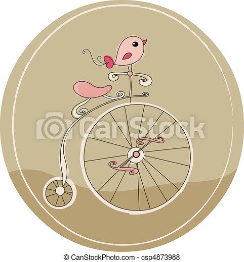 bicicletta, retro - csp4873988