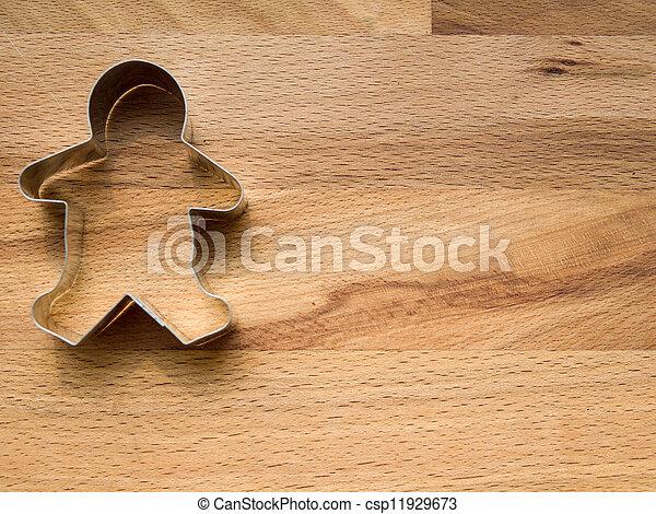 biscotto pan zenzero, tagliatore - csp11929673